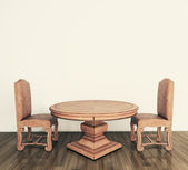 Interior table and chairs — Stock Photo