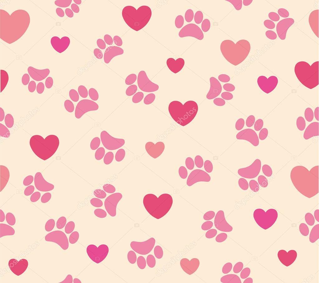Pink dog bone background
