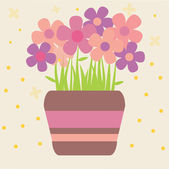 Flower background vector — Stock Vector