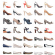 Stock Photo: Collection of various types of female shoes
