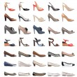 Collection of various types of female shoes — Stock Photo