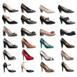 Collection of various types of female shoes — Stock Photo #10835437