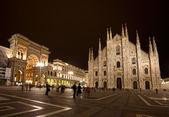 Piazza del Duomo at night — Stock Photo