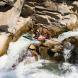 Stock Photo: Rafting in rough waters