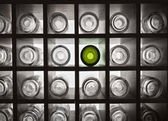 Empty bottles with backlight — Stock fotografie
