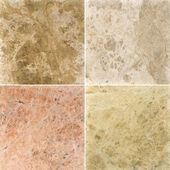 Four different marble texture. (high.res.) — Stock fotografie