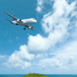 Stock Photo: Flight to paradise