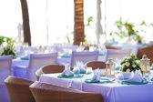 Inside the luxury outdoor restaurant — Stock Photo