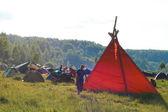 Tent camp — Stock Photo
