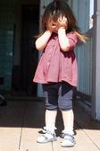 Portrait of small beautiful girl — Stock Photo