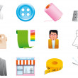Textile icons — Stock Photo