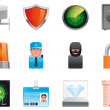 Security icons — Stock Photo