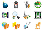 Internet security icons — Foto Stock