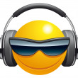 Stock Photo: Emoticon DJ