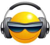 Emoticon DJ — Stock Photo
