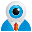Stock Photo: Eyeball businessman