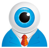 Eyeball businessman — Stock Photo
