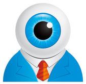 Eyeball businessman — Stock Photo