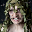 Military camouflaged man — Stock Photo #10912838