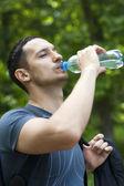 Man drinking water — Stock Photo