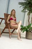 Mladý model na tropický resort — Stock fotografie