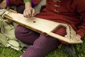 Musicista folk con gusli — Foto Stock