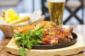 Barbecued pork ribs — Stock Photo