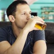Man Enjoying glass Of juice — Stock Photo #11422727