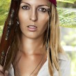 Sexy woman in pirate style — Stock Photo