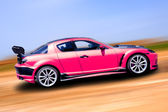 Pink sports car — Stock Photo