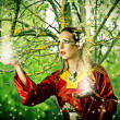 Fairy in forest — Stock Photo #12378512