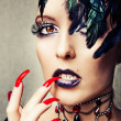 Fashion portrait of female vampire — Stock Photo #12387058