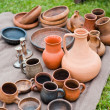 Earthenware in the market — Stock Photo