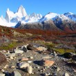 Beautiful nature landscape with Mt. Fitz Roy as seen in Los Glaciares National Park, Patagonia, Argentina — Stock Photo #10775599