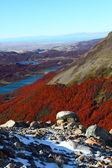 Güzel doğa manzarası ile mt. fitz roy los glaciares milli parkı, patagonia, arjantin görüldüğü gibi — Stok fotoğraf
