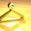 3D Cloakroom Gold Sign — Stock Photo