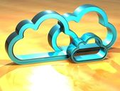 3D Cloud Blue Sign — Stock Photo