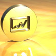 Stock Photo: 3D Graph Gold Sign