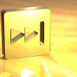 3D Forward Gold Sign - Foto Stock