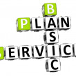 3D Plan Basic Service Crossword — Stock Photo