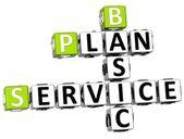 Mots croisés : 3d de plan service de base — Photo