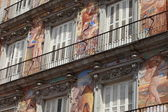 Detail of a decorated facade at the Palza Mayor, Madrid, Spain. — Stock Photo