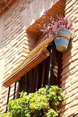 Gevel van een huis in toledo, spanje — Stockfoto
