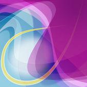 Abstrakte Abbildung blau lila bunten Kurven Hintergrund — Stockvektor