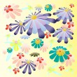 Royalty-Free Stock Vector Image: Beautiful bright colorful flowers illustration vector background