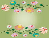 Colorful sprays of beautiful flowers illustration background — Stock Vector