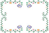 Vector illustration of colorful flower border isolated on white — Stock Vector