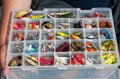 Box of fishing — Stock Photo