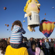 Stock Photo: Hot Air Baloon Fiestin Albuquerque, New Mexico