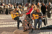 Flamenco group performing on Plaza Mayor — Stock Photo